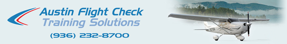 Austin Flight Check Training Solutions sells flight training materials, aviation maintenance training materials and pilot supplies across Texas and the entire United States. Located in Austin, Texas, we serve anywhere with ASA, Jeppesen, APR, Lightspeed, ProFlight, Avcomm, Sennheiser, Softcomm and PilotUSA.