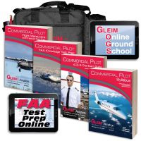Gleim Deluxe Commercial Pilot Kit with Online Test Prep & Ground School - 2020