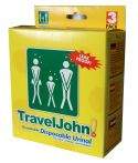 TravelJohn Disposable Urinal for Men, Women and Children - Three Pack (Resealable)